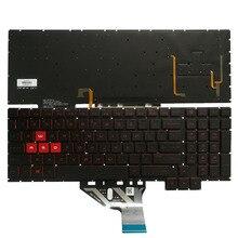 """מקלדת מחשב נייד חדשה בארה""""ב עבור HP סימן 15 CE 15 CE000 15 CE026TX 15 CE005TX 15 CE006TX 15 CE001TX 15 CE002TX עם תאורה אחורית 15.6"""""""