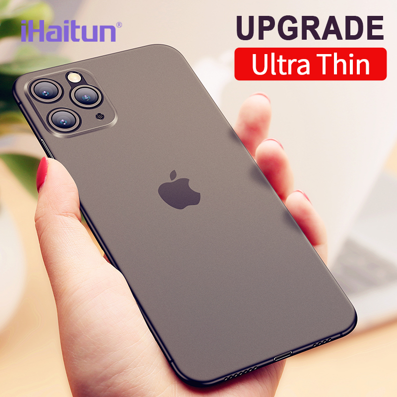 IHaitun Luxury Phone Case For IPhone 11 Pro Max Cases Slim Cover Ultra Thin Transparent Back For IPhone 11 XS MAX X XR 10 Full
