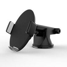 Высокое качество 15 Вт мощная Быстрая зарядка беспроводное автомобильное зарядное устройство для samsung S9 S7 edge автомобильное беспроводное зарядное устройство Держатель для iPhone X 8 plus