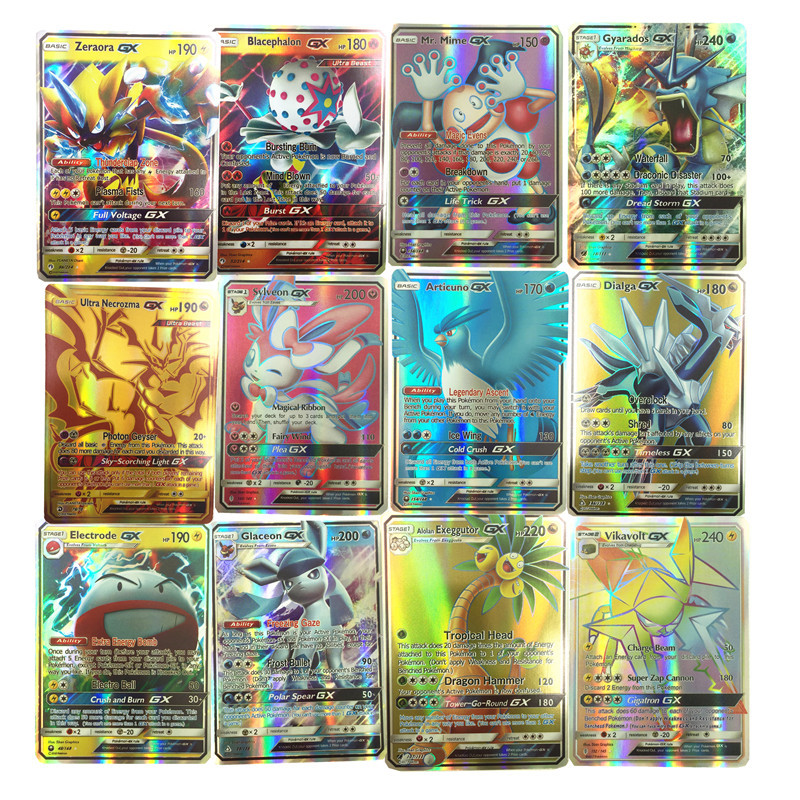 Kids Toys 100pcs English GX EX   Cards Toys Card Game Battle Carte Trading Energy Charizard Collection Card