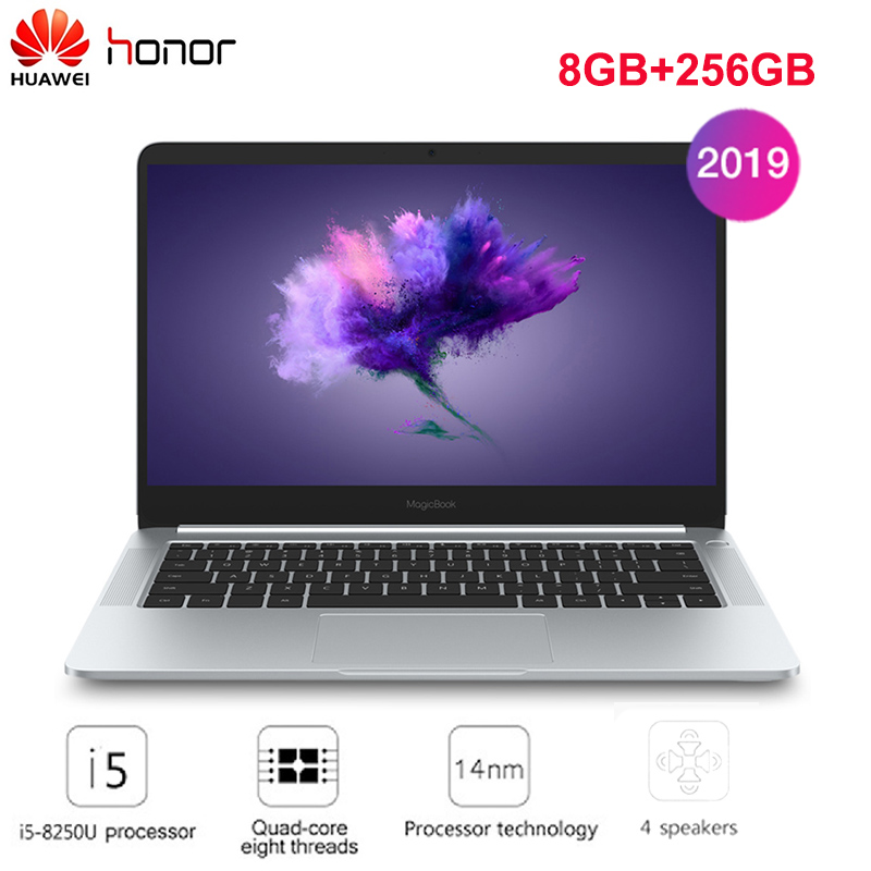 2019 Original HUAWEI Honor MagicBook Laptop 14'' Windows 10 Home I5-8250U Quad Core NVIDIA GeForce MX150 8GB+256GB Notebook HDMI