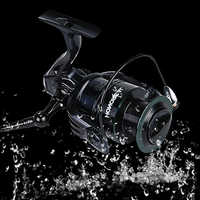 Aluminium Spinning Fishing Reel 9BB + 1 Bearing Balls 2000-5000 Series Ice Fishing Accessories All Metal Spool Reel Saltwater
