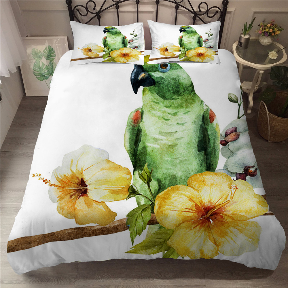 MEI Dream Toucan Home Textiles Bedding Together 3D Animal Printed Queen Size Comforter Sets