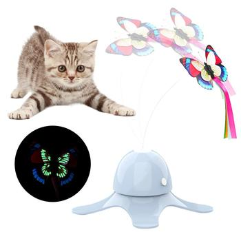 Electronic Battery Operated Smart Pet Toys with 360 Degree Rotating Butterfly for Dogs/Cats