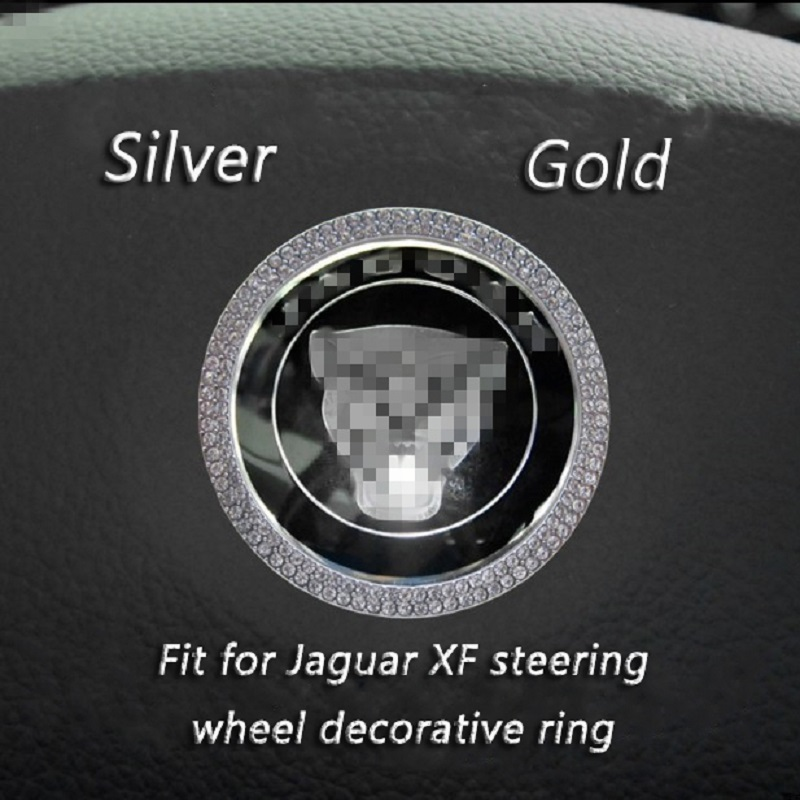 For Jaguar F-PACE/F-TYPE/XF/XE/XJ/XJL Steering Wheel Decorative Ring Circle Stickers Car Interior Modification Accessories