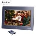 Andoer 10 ''HD TFT-LCD 1024*600 marco de fotos Digital Reloj MP3 MP4 reproductor de películas con control remoto escritorio Digital marco de foto