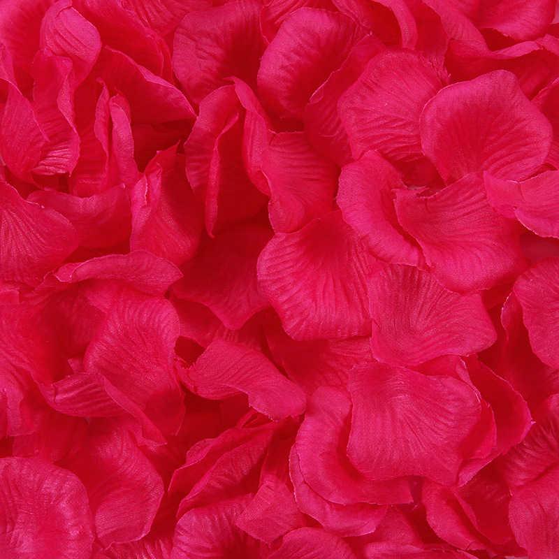 100 Pcs Sutra Rose Kelopak Wedding Perayaan Ulang Tahun Dekorasi Confetti Diy Pernikahan Rumah Dekorasi Natal Bunga Mawar Hadiah