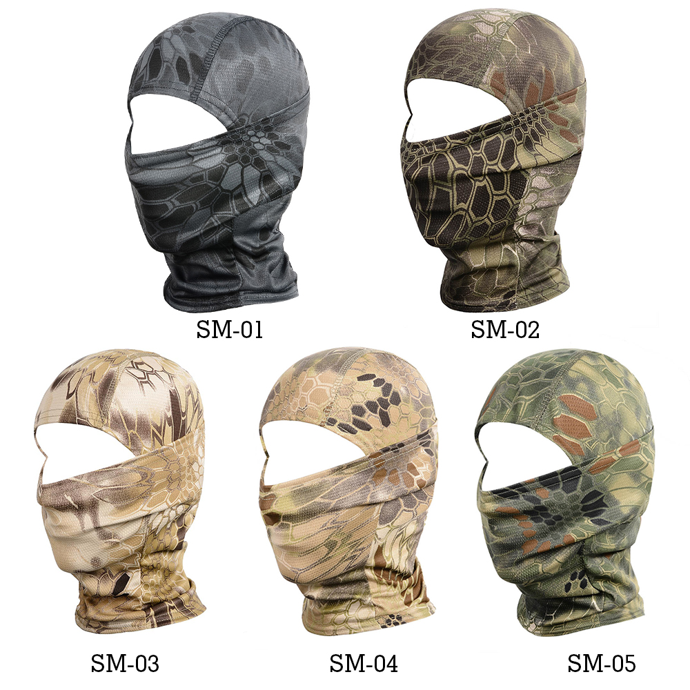 Image 2 - Sport Tactical Camouflage Balaclava Outdoor Full Face Mask Cover Bicycle Hunting Hiking Cycling Army Bike Military Liner Cap-in Scarves from Sports & Entertainment