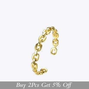 Image 2 - Enfashion Zuivere Vorm Kleine Link Chain Manchet Armbanden Gouden Kleur Messing Armbanden Voor Vrouwen Accessoires Sieraden Bijoux BF182032