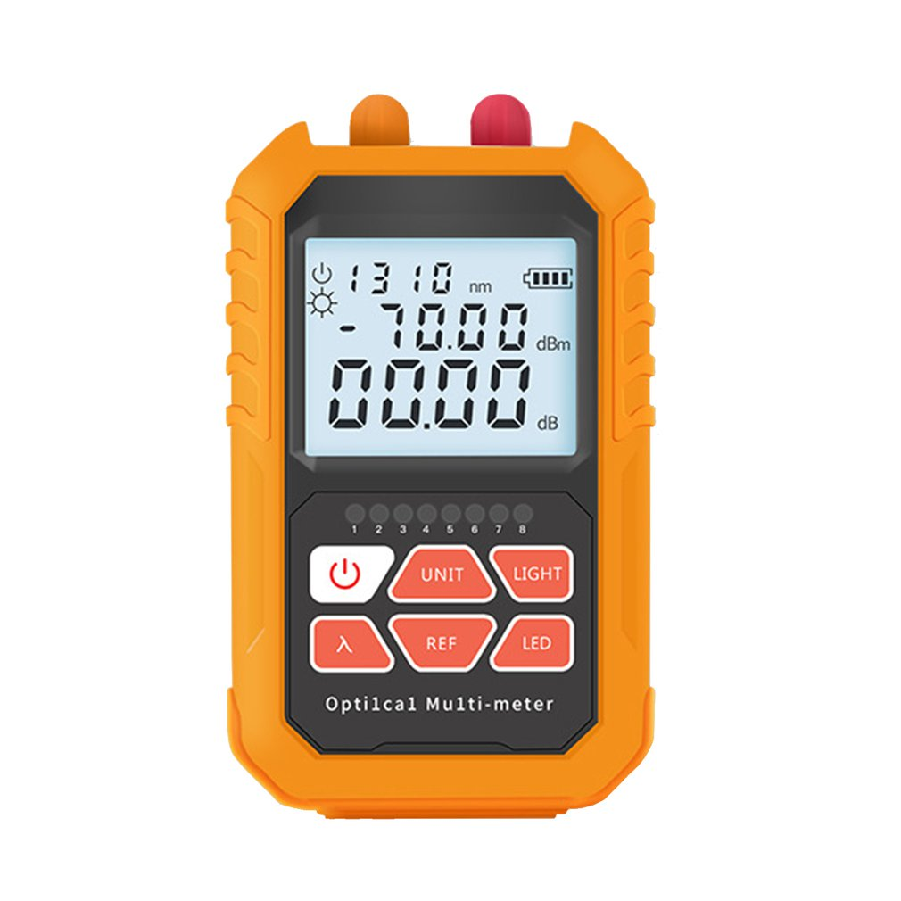3 in 1 Visual Fault Locator Network Fiber Optic Cable Tester 5km Red Light Laser Pen LED Lighting Optical Power Meter in Circuit Breaker Finders from Tools