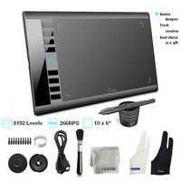 Ugee gráficos desenho tablet m708 designer de arte escrever tablet 266rps 8192 níveis tablet com caneta passiva para janela android mac
