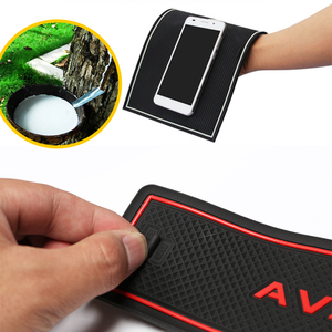 Image 5 - Anti Slip Rubber Cup Cushion Door Groove Mat for Chery Tiggo FL T11 facelift 2011~2015 2012 2013 2014 Accessories mat for phone