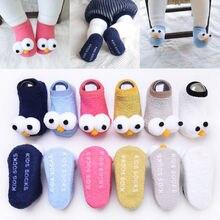 От 0 до 3 лет, детские носки для новорожденных зимние шерстяные носки унисекс для мальчиков и девочек теплые толстые детские хлопковые нескользящие домашние милые носки-Тапочки