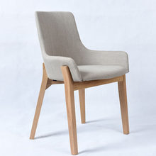 Nordic style solid wood dining chair cafe table and chair combination simple modern chair(China)