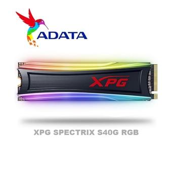 ADATA XPG SPECTRIX S40G RGB PCIe Gen3x4 M.2 2280 512gb 1TB dysk półprzewodnikowy do laptopa pulpit wewnętrzny dysk twardy 256G 512G