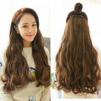 Lange Wellenförmige Frauen Frisur In Haar Verlängerung Hitze Beständig Synthetische Falsche Haar Stück Clip verlängerung oder angeln line extension