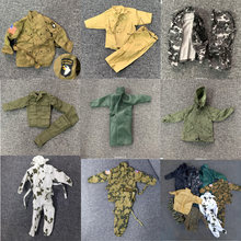 Lote aleatório 15 pçs/set eua alemanha segunda guerra militar soldado uniformes roupas 1/6 para 12 ultimate ultimate final soldado figuras brinquedos