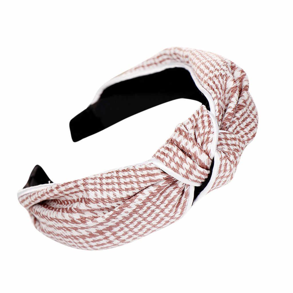 Mode femmes tissu art noeud noeud rayé bandeau femme Simple doux tête cerceau Barrettes filles accessoire cheveux bandeau wloseed