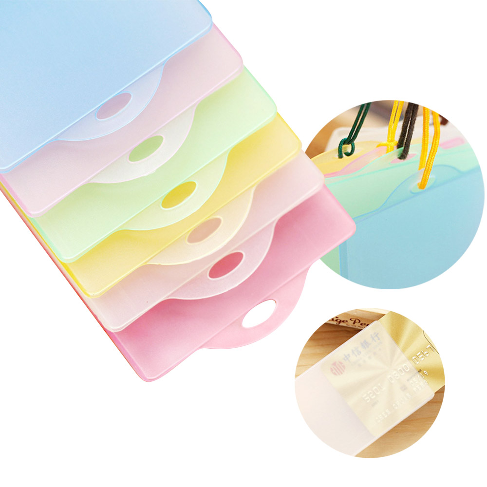 1PCS Waterproof PVC Transparent ID Bus Card Pass Holder Keyring Key Chain Case Wallet Pouch Badge Holder For School Suppliers