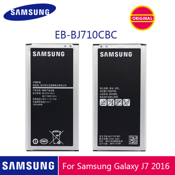 цена на SAMSUNG Original Phone Battery EB-BJ710CBC 3300mAh For Samsung Galaxy J7 2016 Edition J710 J710F J710FN J710M J710H J7 2016 DUOS