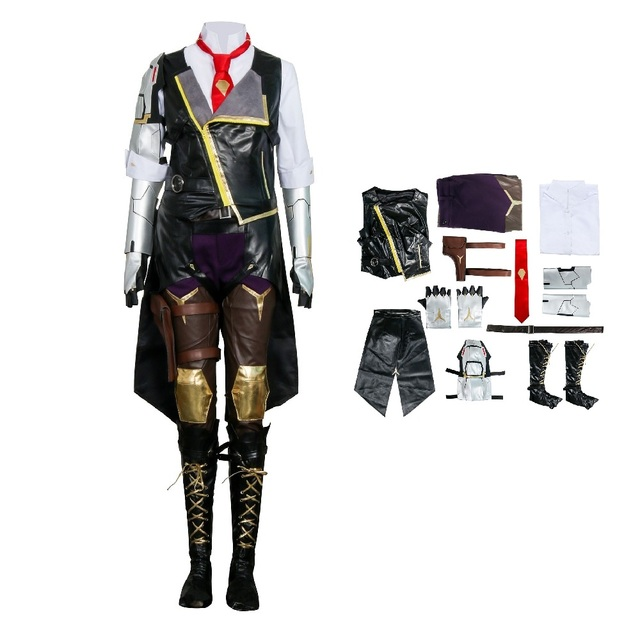 Hero Ashe Cosplay Costumes for Adult Women for Game Overwatch OW Elizabeth Caledonia Ashe Full Suit Halloween Cosplay Set