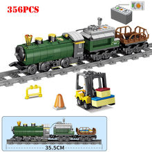 Technic Battery Powered Electric Train Building Blocks Compatible Legoed City Electric Train Rail Bricks Gift Toys For Children(China)