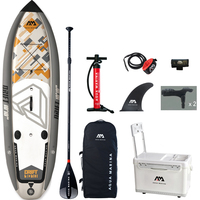 AQUA MARINA 330*97*15cm DRIFT inflatable sup board stand up paddle board  fishing SUP board surfing board with incubator  A01010