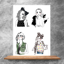 ZhuoAng Shopping girl Clear Stamps/Silicone Transparent Seals for DIY scrapbooking photo album Clear Stamps