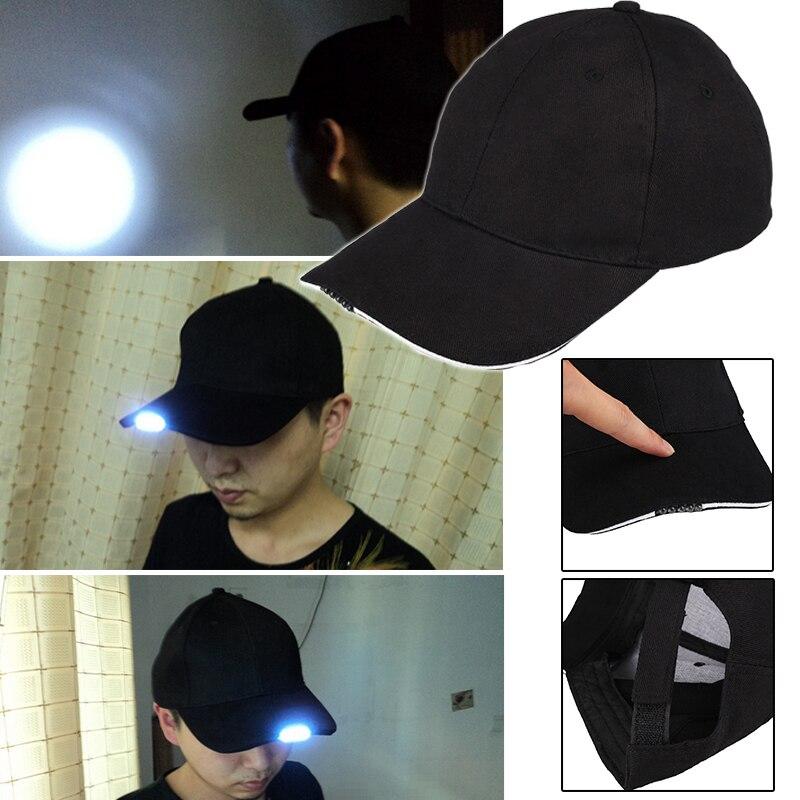 Halloween Fishing Lighted Baseball Hat Unisex Cap 5 Night Light Gifts