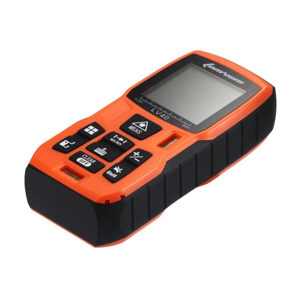Tragbare Handheld Digitale Laser-entfernungsmesser Abstand Meter Maßband 40m Reichweite Finder Fläche Volumen Messen Diastimeter