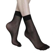 10 paar Frauen Socken Elastische Ultra-dünne Transparente Kurze Socken Kristall Socken Hohe Elastische Haut Farbe Nylon Kurze Socken heißer Verkauft