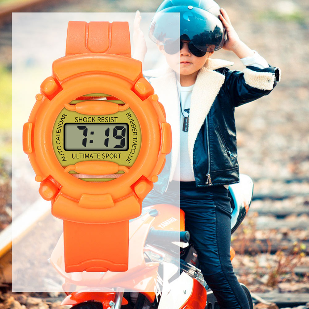Lightweight And Durable Kids Casual Electronic Watch Children Silicone Sports Watches  FO Sale