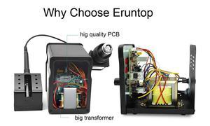 Image 3 - Eruntop 8786D 8586D+ Electric Soldering Irons +Hot Air Gun Better SMD Rework Station Upgraded 8586 8586+ 8586D
