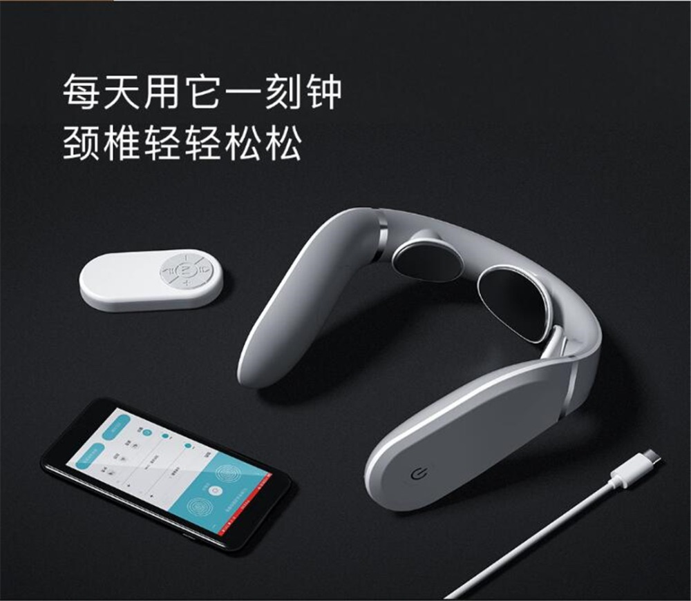 Xiaomi Jeeback Cervical Massager G2 TENS Pulse Back Neck Massager Far Infrared Heating Health Care Relax Work With Mijia App (11)