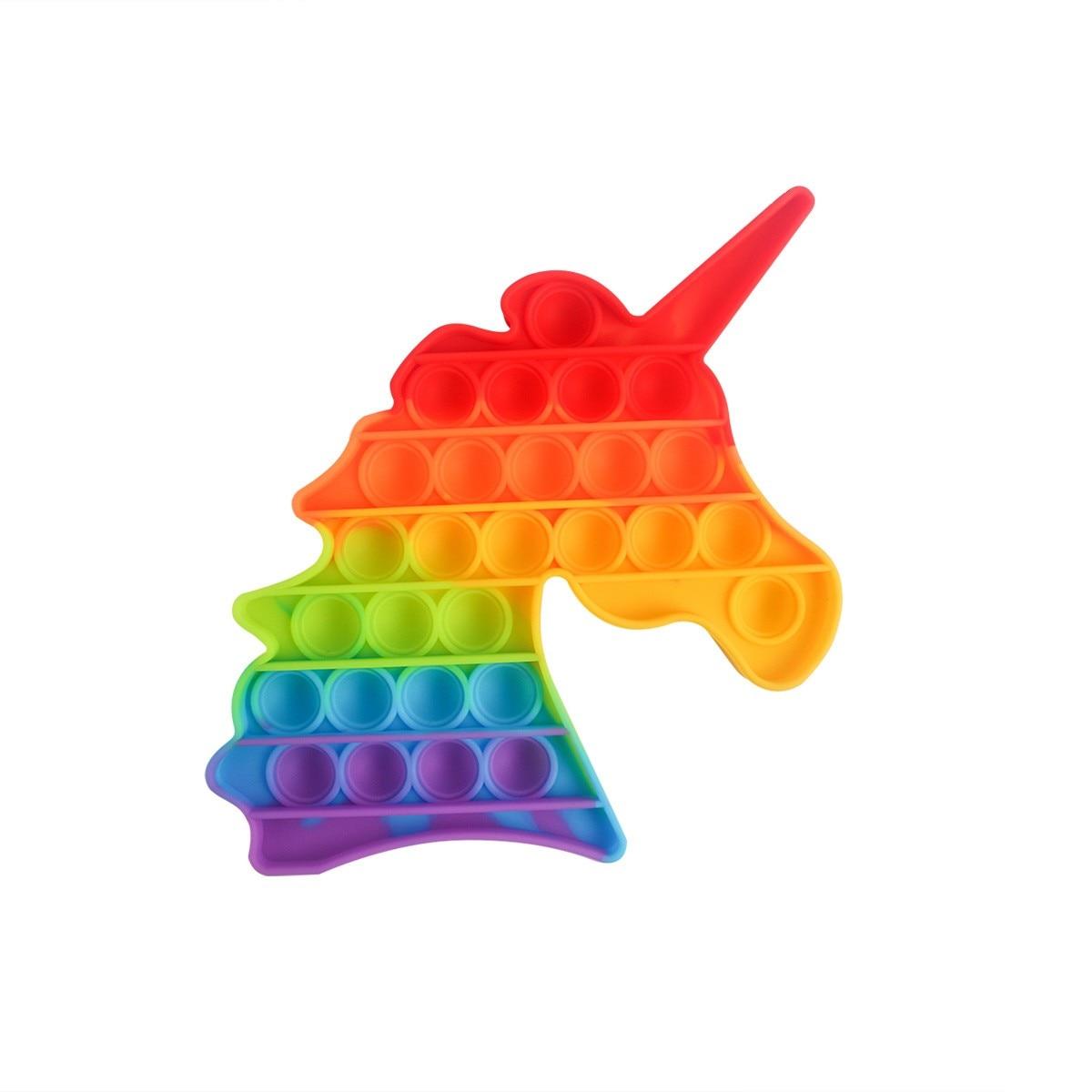 Sensory Toy Stress-Toy Reliver Pops Fidget Rainbow-Push Children Adult It img3