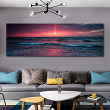Sunrise Seascape big size bedroom decoration canvas painting art Modular pictures photography prints from custom photo