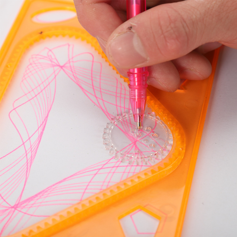 Adult Relaxation Mapping Children Intelligence Sketchpad Flexible Spirograph Multi-functional Drawing Template Ruler Students St
