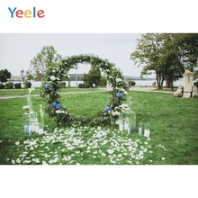 Yeele Wedding Party Photocall Flower Wreath Grasses Photography Backdrops Personalized Photographic Backgrounds For Photo Studio