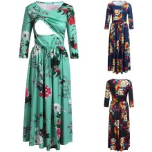 Europe And America Hot Selling Pregnant Women Nursing Dress-Style Printed Joint