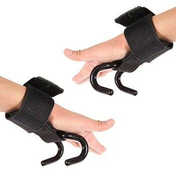 2 Pcs Weight Lifting Hook Hand Bar Wrist Straps Glove Weightlifting Strength Training Gym Fitness Hook Support Lift Grip Belt 5
