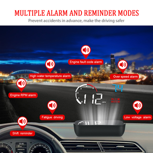 Image 5 - Multifunction Car Windshield Projector OBD2 Display Intelligent Alarm System Overspeed Warning Car Hud Display M10 A10 Universal