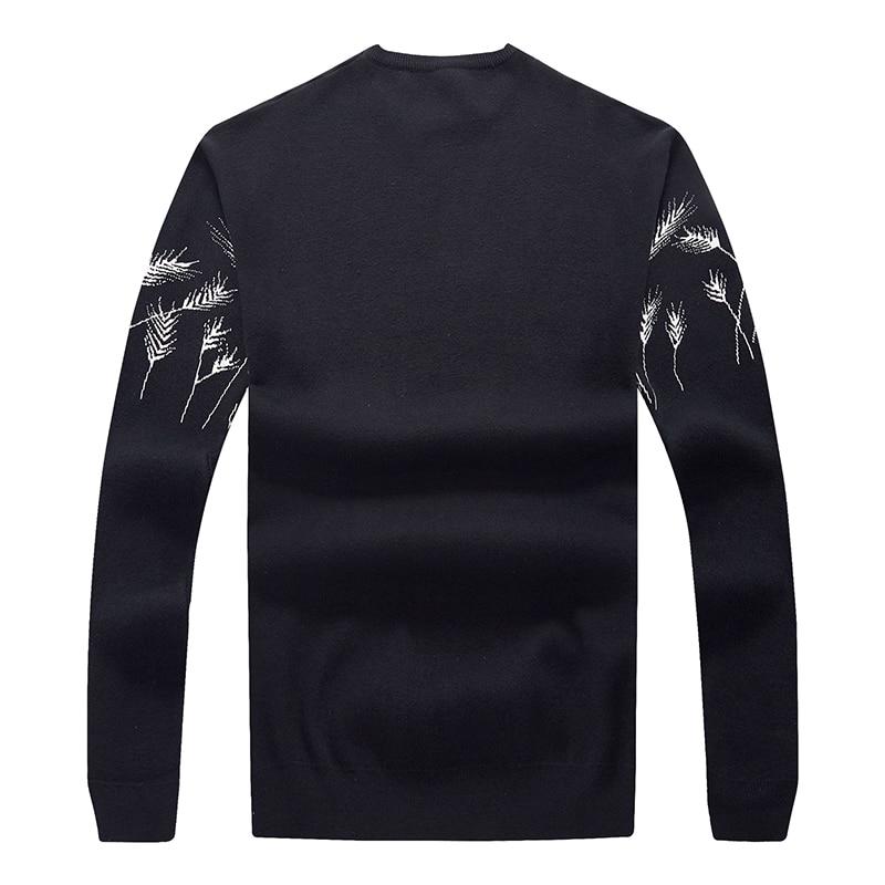 10XL 8XL 6XL 5XL Vertvie Мужской Повседневный свитер с круглым вырезом, осенне зимний Рождественский пуловер, вязаный джемпер, свитера, приталенный - 3
