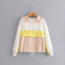 AOEMQ New Summer Sport Gym Jackets Fall Breathable Cotton Women Tops with Hooded Rain Protection Clothing
