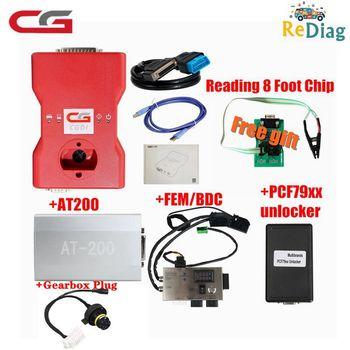 CGDI Prog For BMW Auto Key Programmer+OBDOK Multibrands PCF79XX+FEM/BDC TEST PLATFORM+Gearbox Plug+AT-200 for BMW +8 Foot Chip