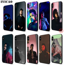 IYICAO The Weeknd Rap Trap Soft Black Silicone Case for iPhone 11 Pro Xr Xs Max X or 10 8 7 6 6S Plus 5 5S SE