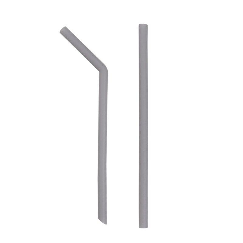 Силиконовая утолщенная соломенная многоразовая Мягкая изогнутая соломинка прямая соломинка Складная цветная - Цвет: H