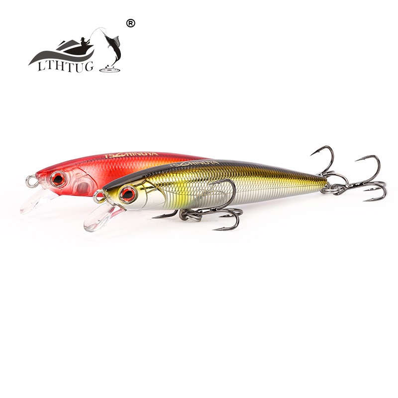 LTHTUG Pesca Hard Wobbler Fishing Lure 6g 80mm Floating Minnow Rolling Artificial Bait For Bass Trout Pike Perch Sunfish Salmon