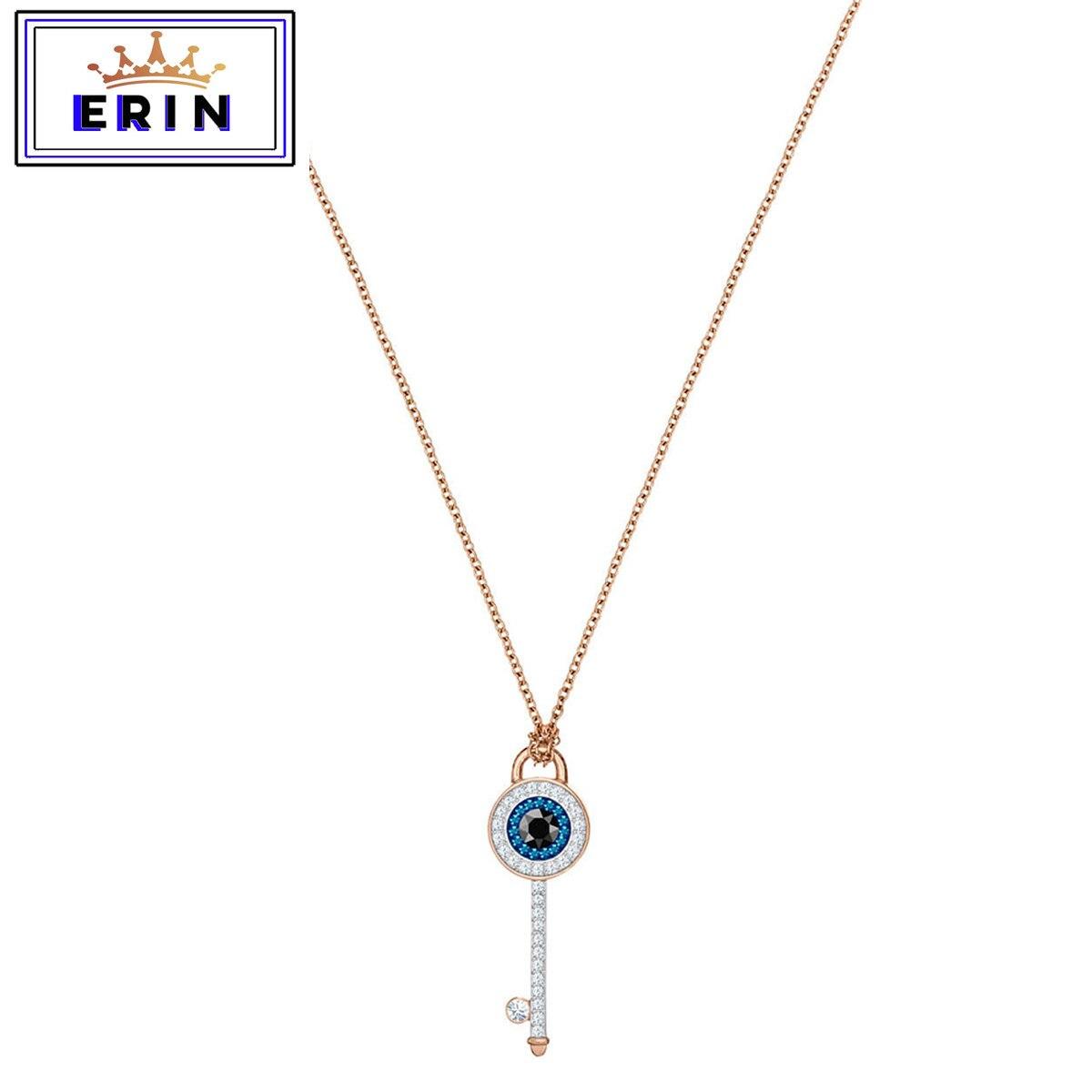 ERIN  High quality SWA, devil's eye anniversary Key Necklace