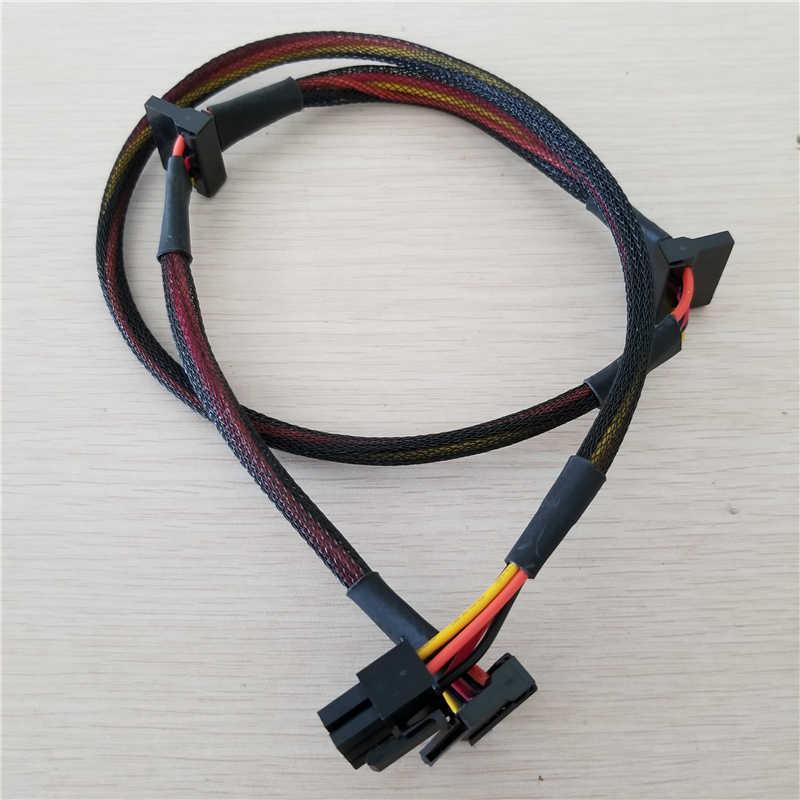 وحدات PSU 6pin إلى 3-port SATA كابل الطاقة 18AWG سلك 80 سنتيمتر لسلسلة Antec NP TP ECO