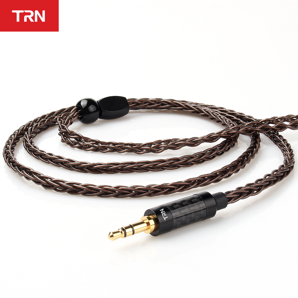 TRN T4 8 Core Single Crystal Copper MMCX/<font><b>2Pin</b></font> <font><b>0.75MM</b></font>/0.78MM Upgrade Earphone <font><b>Cable</b></font> For TRN V90 BA5 ZS10 ZSX BL-03/BL-05 image